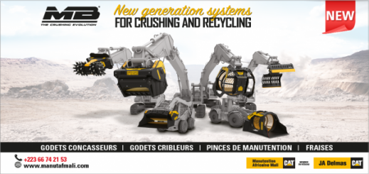 Manutention Africaine Mali, distributeur exclusif MB CRUSHER